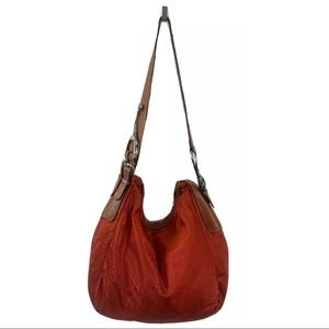 Ralph Lauren handbag hobo bag purse fall orange